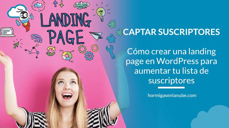 crear una landing page en wordpress