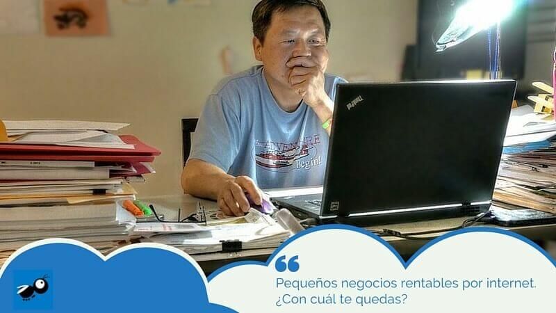 pequeños negocios rentables por internet