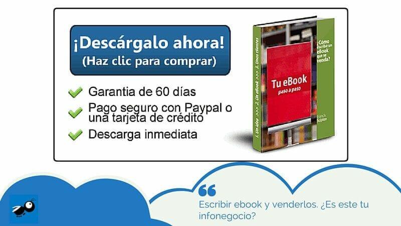 Escribir ebook y venderlos. ¿Es este tu infonegocio?