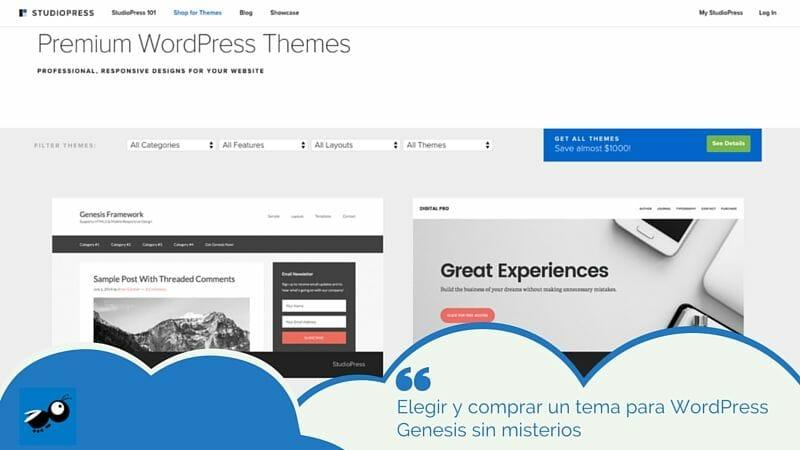 ✓ Cómo elegir y comprar un tema para WordPress Genesis y acertar
