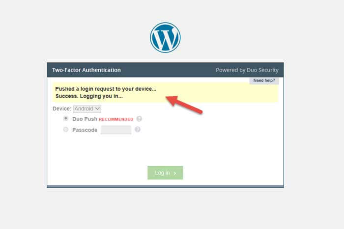 verificación en 2 pasos en wordpress