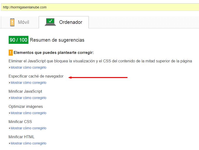 Acelerar un blog usando htaccess y pagespeed