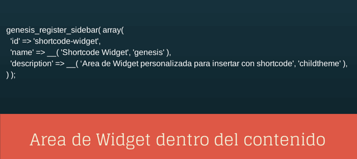 area de widget dentro de un post