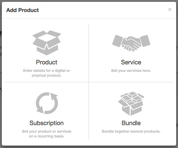 Tipos de productos en Sendowl
