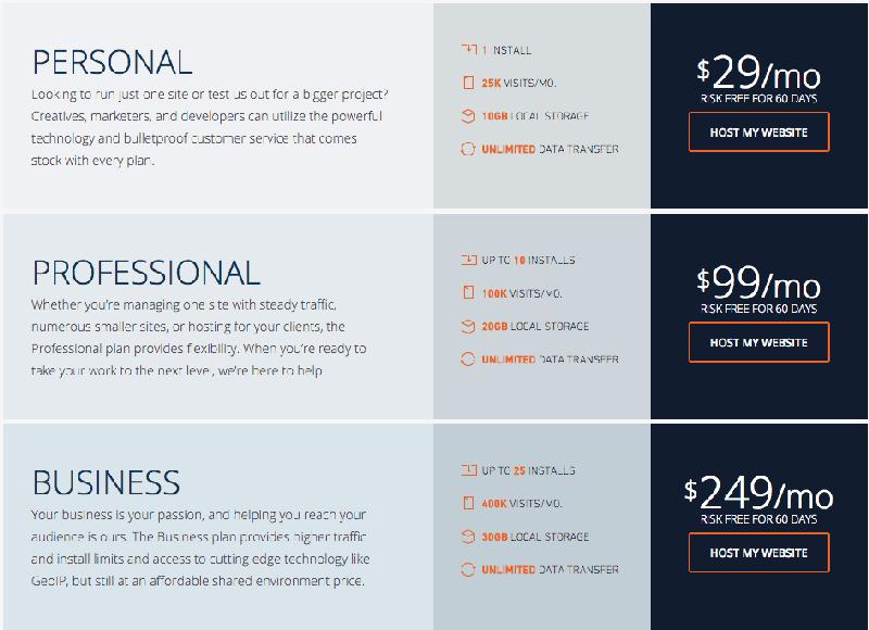 el mejor hosting para mi web - planes de precios