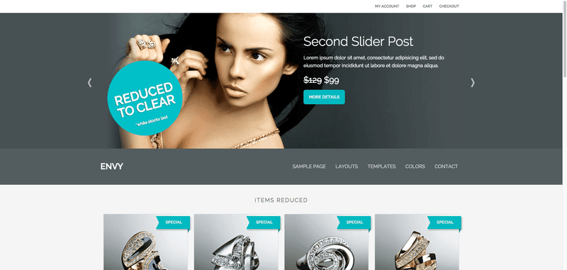 Envy Child Theme Genesis para Woocommerce