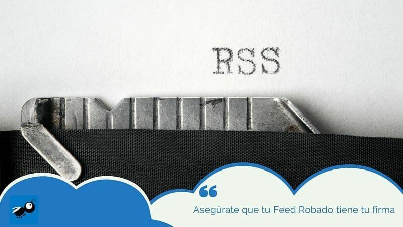 Inserta tu firma personalizada en tu RSS