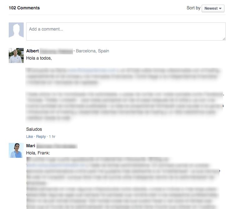 Facebook Comments en Acción