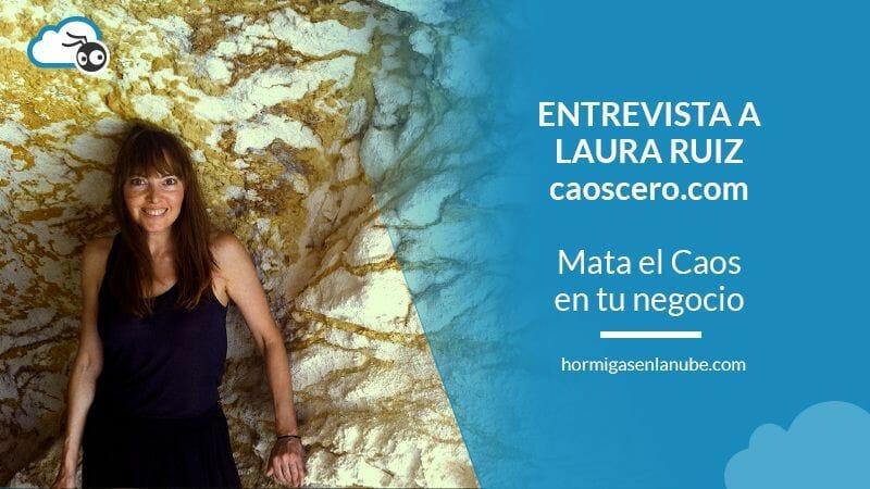 Foto de Laura Ruiz de caoscero.com para su Entrevista