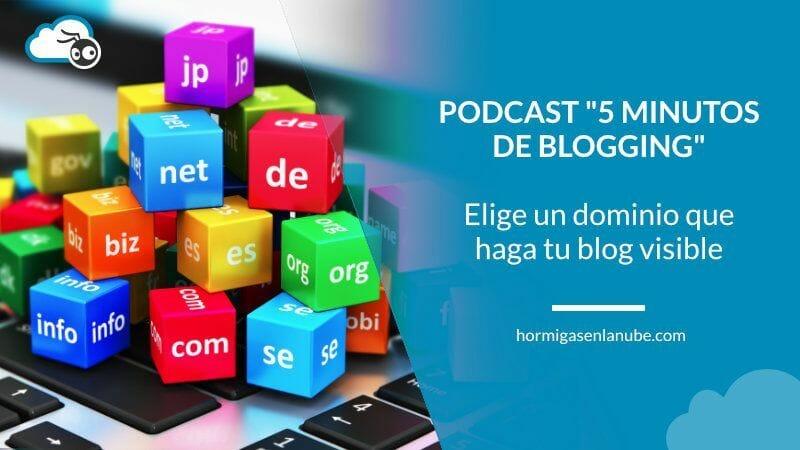 Elige un nombre de dominio que haga tu blog visible