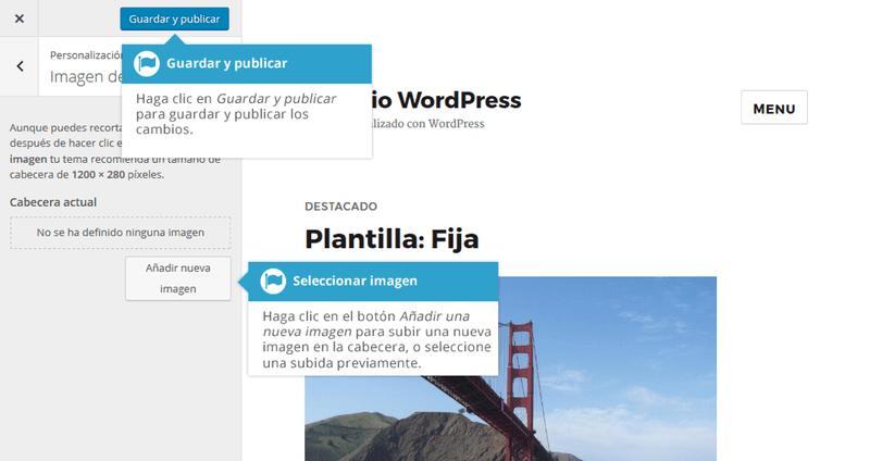 Sube tu logo o cabecera a tu web wordpress con esta opción