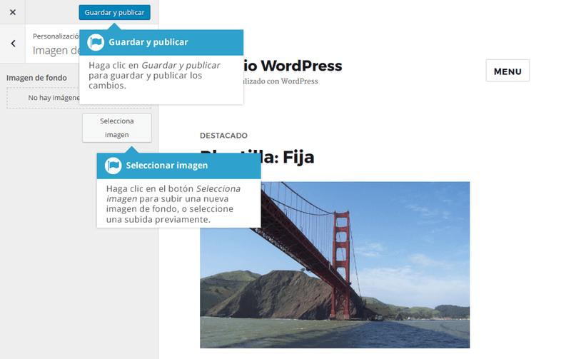 Tambien puedes configurar una imagen de fondo si el tema cuenta con esta opción