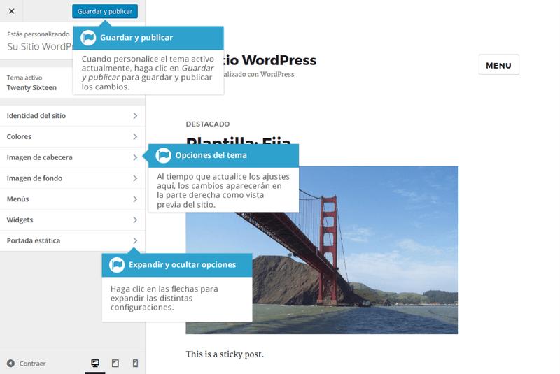 Personalizando la apariencia de WordPress