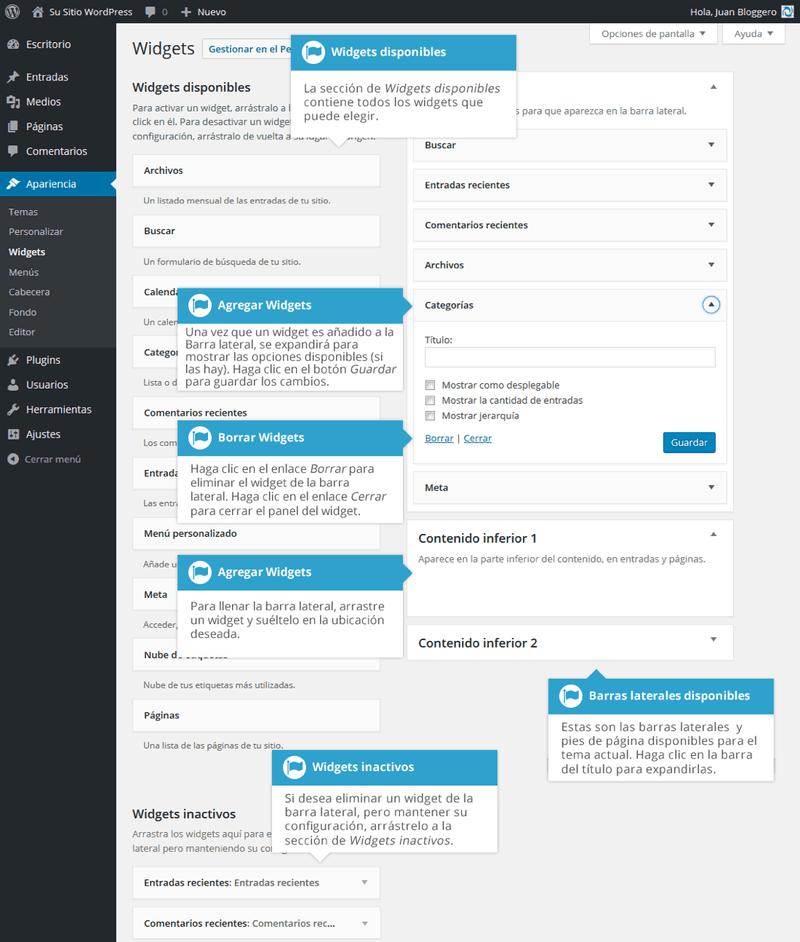 Jugando con los Widgets para mejorar la apariencia de WordPress