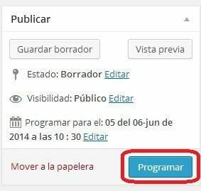 programar post wordpress