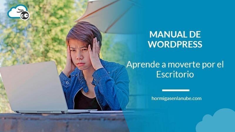 Conoce el Escritorio de WordPress