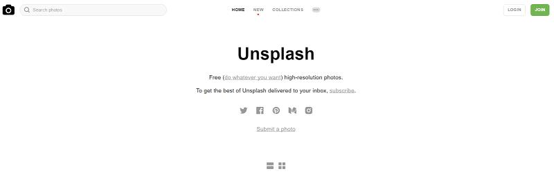 Banco de imágenes gratis Unsplash