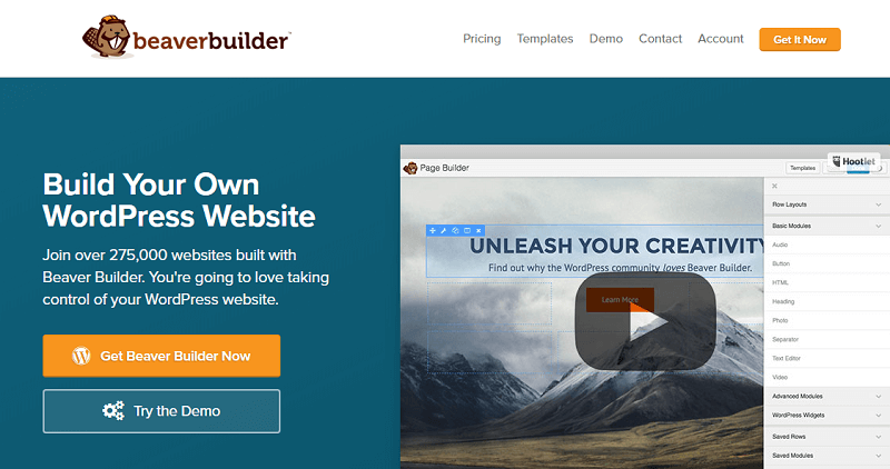 Plugins para wordpress: beaver builder