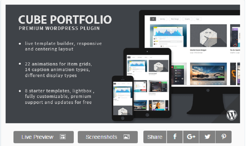 Plugins para wordpress: Cube Portfolio