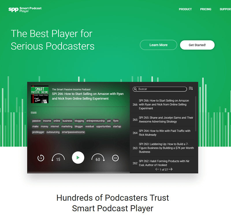 Plugins para wordpress: smart podcast player