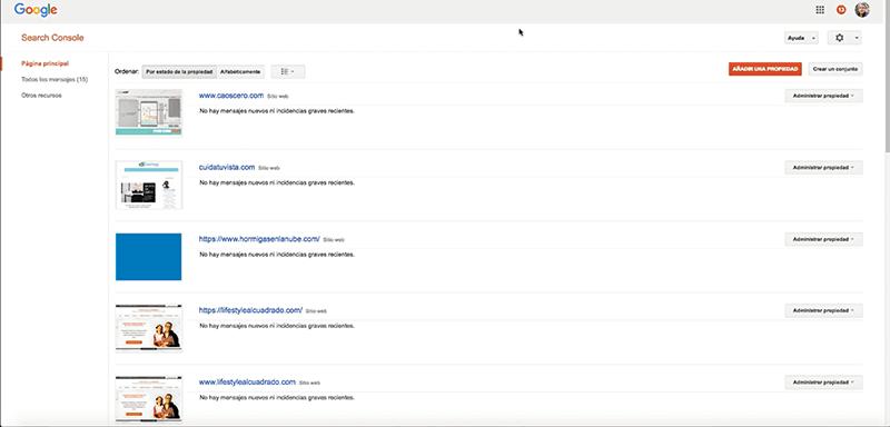 Google Search Console primeros pasos