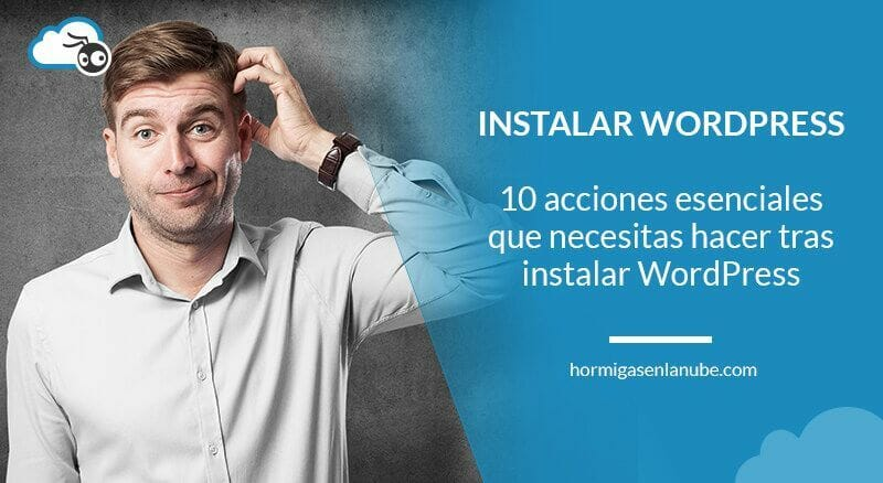 despues de instalar wordpress