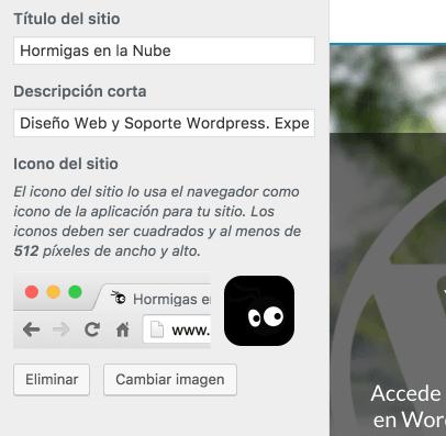 Personalizar favicon wordpress