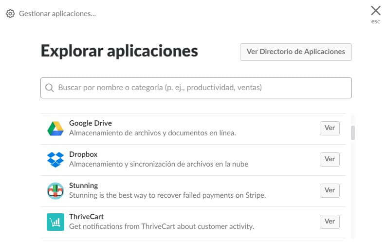 Tutorial de Slack: aplicaciones