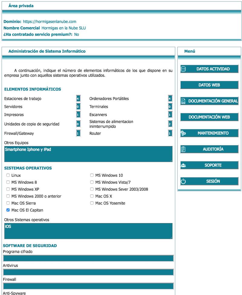 Administrar sistema informático lex blogger