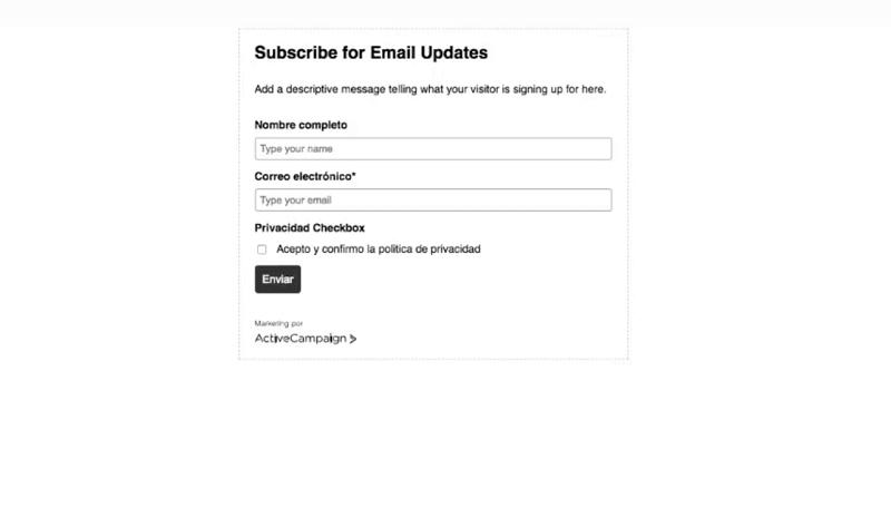 Adaptar los formularios de suscripcion al RGPD con ConvertPro y Active Campaign