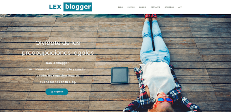 Adaptar la web al RGPD con Lexblogger
