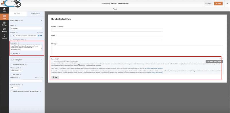 adaptar los formularios de contacto al rgpd con wpforms lite