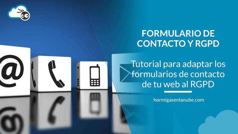 adaptar los formularios de contacto al RGPD