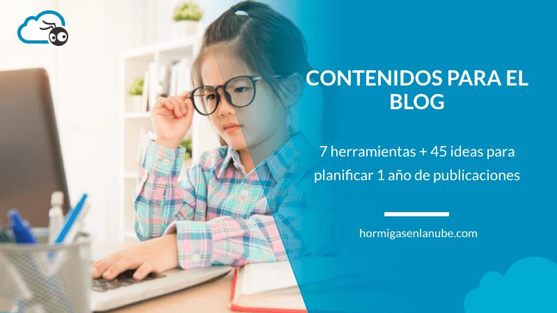 planificar contenidos para el blog