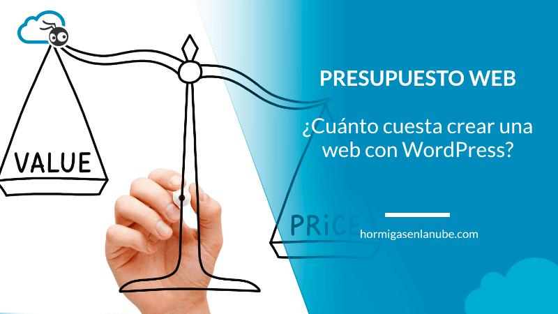 Presupuesto web con wordpress