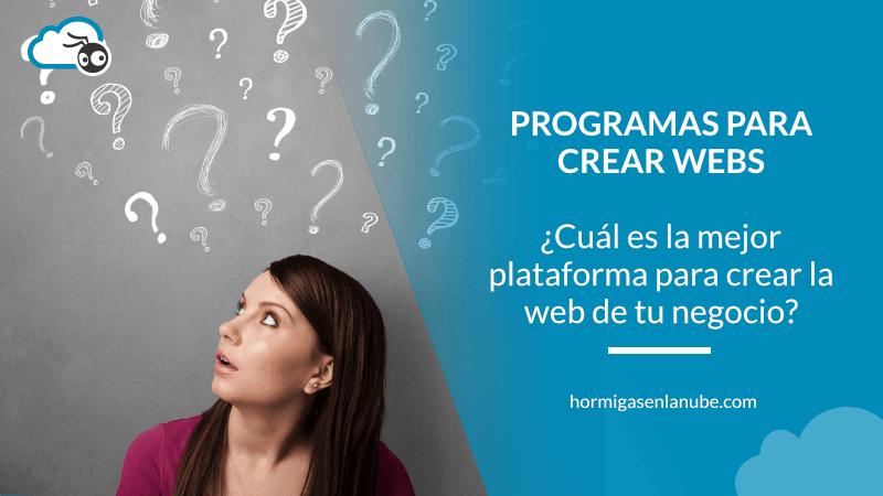 Programas para crear webs