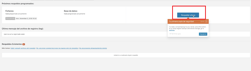 Actualizar WordPress: hacer respaldo web