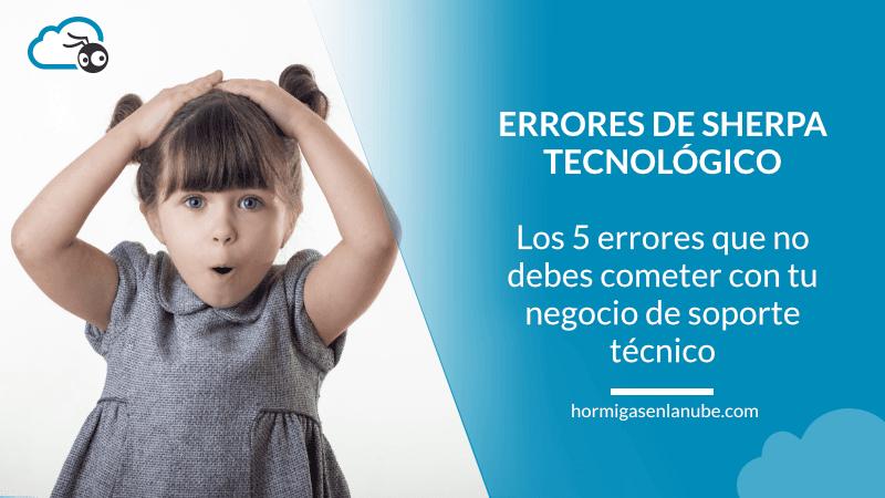 errores negocio soporte tecnico