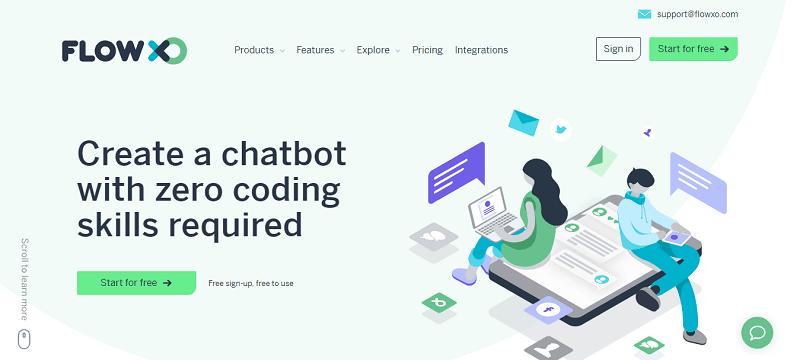 herramientas de chatbots: flowxo