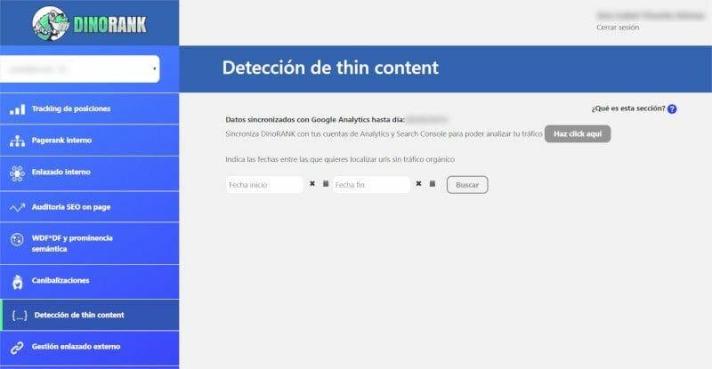 DinoRANK Detección de thin content
