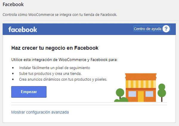 Integración de Woo con Facebook