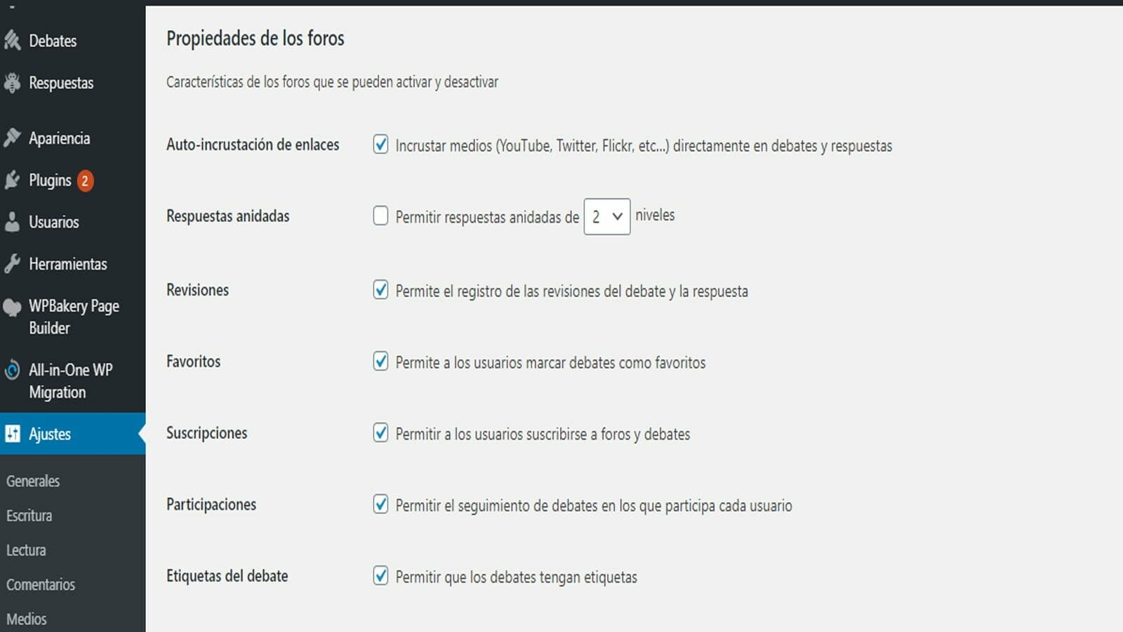 bbPress foro wordpress plugin