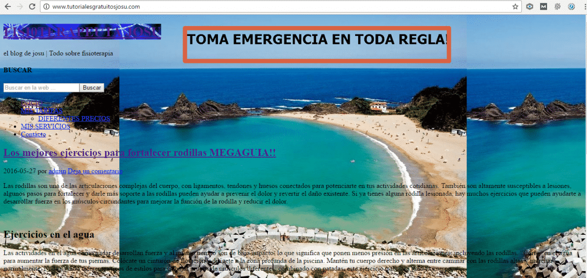 Emergencia en toda regla Josu Wordpress