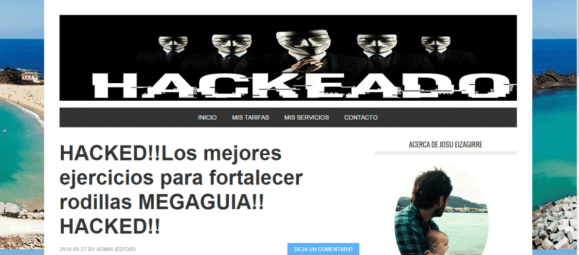 Wordpress hackeado josu