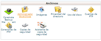 administrador de archivos emergencias wordpress josu