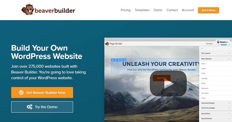 Plugins para wordpress: beaver builder