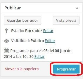 programar post wordpress