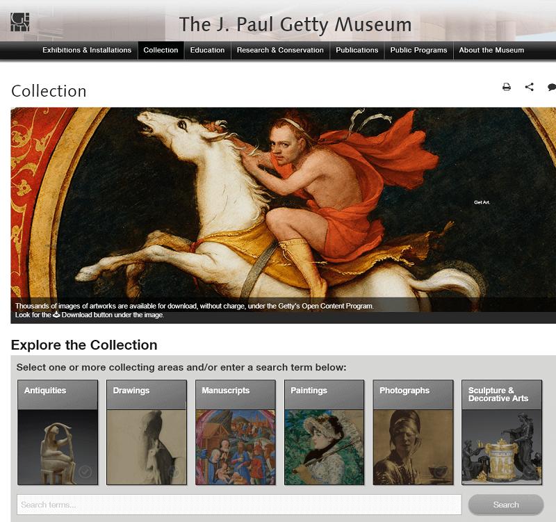 Banco de imágenes gratis Collection Getty Museum