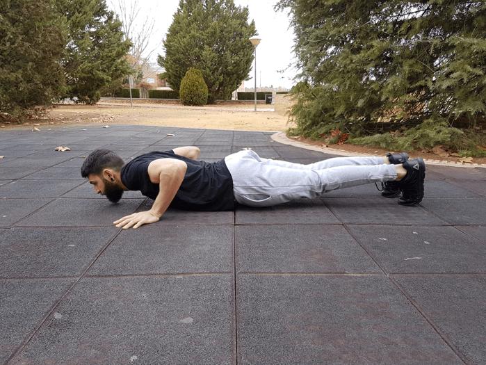 Entrenar en casa: flexión