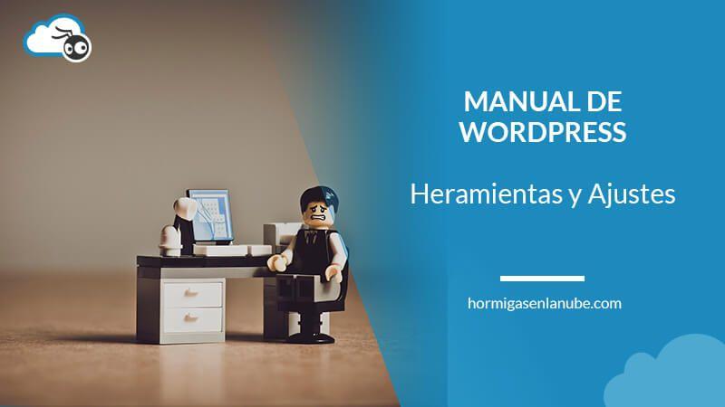 Herramientas y ajustes de WordPress